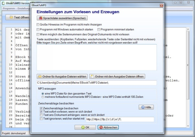 Deutsche TTS-Software